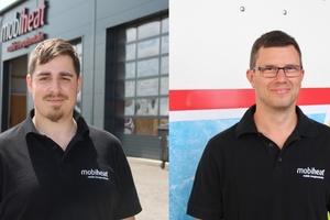 Mit Ing. Markus (Max) Kroißl (29)(links)  und Clemens Planitzer (33) konnten zwei erfahrene Mitarbeiter aus dem Bereich der mobilen Energieversorgung auf dem österreichischen Markt gewonnen werden.  (Foto: mobiheat)