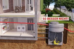 Der Einbau sog. Behälteranlagen in Schachtbauwerken zur Entsorgung von häuslichem Abwasser ist nicht zu empfehlen!