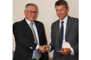 Marco Caleffi, Vorstandsvorsitzender der Caleffi-Gruppe (rechts), mit Alberto Cristina  (Foto: Caleffi)