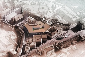 Luftansicht des Einkaufszentrums  (Bild: Ingenieurbüro T. Erdmann)