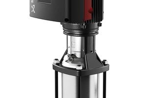 Die mehrstufige Hochdruck-Kreiselpumpe CR von Grundfos ist in 13 Baugrößen (Förderstrombereich bis zu 180 m³/h), vier Werkstoffausführungen und einer Reihe unterschiedlicher Anschluss- und Ausstattungsvarianten erhältlich.<br />