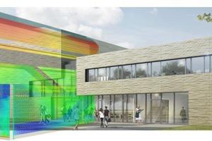 CFD-Simulation des Foyers zur Optimierung der natürlichen Nachtauskühlung