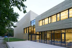 Außenansicht des Kommunikations- und Informationszentrums an der Universität Erfurt