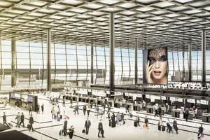 Eine neue Dimension: die Abfertigungshalle des Terminal 3