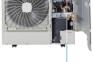 """Alle Baureihen der """"Sky Air A""""-Serie verfügen über eine um 90° schwenkbare Frontblende sowie eine Sieben-Segment-Anzeige zum einfachen Auslesen von Serviceparametern."""