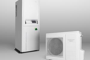 """In der Hybridlösung arbeitet die Luft-/Wasser-Wärmepumpe """"DomoConnect WP 5.0"""" mit dem Gasbrennwertkessel """"Domostar GBK Plus"""" zusammen.<br />"""