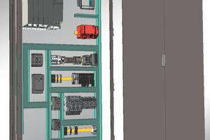 In der Disziplin Cabinet Engineering (CE) werden 3D-Daten im Step-Format für eine fotorealistische Darstellung sowie für die Berechnung und Visualisierung von Bauteilkollisionen herangezogen.<br />