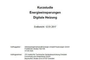 """Auf 21 Seiten zeigt die Kurzstudie """"Energieeinsparungen Digitale Heizung"""" Möglichkeiten zur Effizienzsteigerungen auf.<br />"""