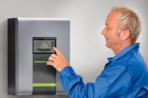 """Die """"x-change dynamic""""-Wärmepumpen sind standardmäßig mit der Regelung """"x-center x40"""" ausgestattet.<br />"""