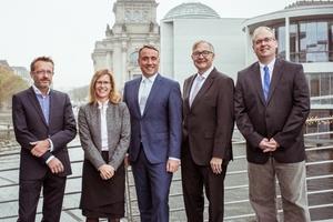 Der neue Vorstand des VfW MIT (v.l.n.r.) Dr. Volkhard Nobis, Annett Wettig, Till Reine, Peter Paul Thoma und Carsten Dittmar Foto. VfW