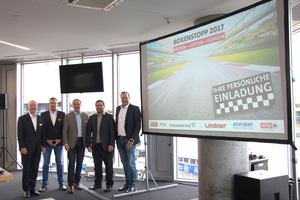 Die fünf Gastgeber freuten sich über 100 Teilnehmer am Hockenheimring.