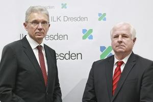 Prof. Uwe Franzke (links) und Dr. Ralf Herzog leiten das Institut für Luft- und Kältetechnik gGmbH gemeinsam.  Foto: ILK Dresden