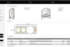 Nach Abschluss der virtuellen Schachtbelegung können die Grafiken und die technischen Daten exportiert und so für die weitere Planung eingesetzt werden.<br />