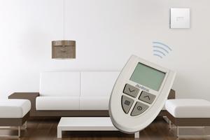"""Für die neue Lüftungsgerätegeneration mit Wärmerückgewinnung der Serie """"M-WRG"""" wird u.a. eine Funkfernbedienung angeboten."""