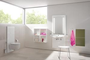 """Elektronisch stufenlos höhenverstellbare Waschtisch- und WC-Module """"S 50"""""""