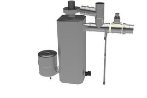 """Der Zyklonabscheider """"Cyclojekt"""" wurde für größere Feuerungsanlagen entwickelt und verbindet zwei Abscheideverfahren.<br />"""