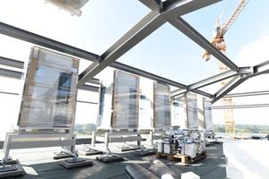 VRV-Systeme direkt nach der Anlieferung auf dem Dach des Arborea Marina Resort