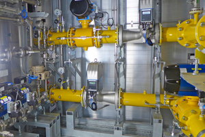 Anlage, die Wasserstoff in das bestehende Gasnetz einspeist.