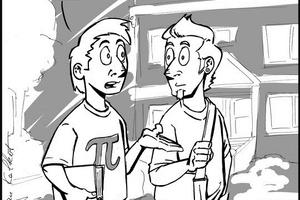 ... zwischen Fachtext und Aufgabenstellung einige Cartoons zur Auflockerung.<br />