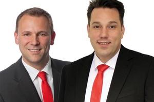 Das Roth Verkaufsgebiet West ist neu organisiert  (v.l.n.r.): Regionalverkaufsleiter René Kolfhaus und Markus Golditz für das Key Account Objektmanagement. Foto: Roth Werke