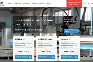 Die Startseite der neuen Website bietet einen übersichtlichen Einstieg.  Bild: ICS Cool Energy