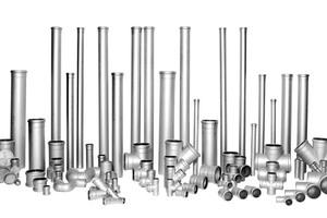 """Das Rohrleitungssystem """"Niropipe"""" besteht aus rostfreiem Edelstahl. Die einzelnen Komponenten können in Kombination mit Kunststoffrohren verwendet werden, was die Gesamtkosten erheblich senkt."""