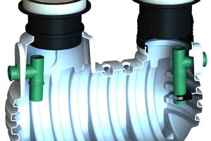 Bei den Klaro-Fettabscheidern sind bereits werkseitig alle Komponenten anschlussfertig vormontiert.<br />