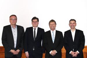 Referenten des Fachgesprächs Schullüftung (v.l.n.r.): Claus Händel (FGK), Ralf Wagner (LTG), Günther Mertz (FGK) und Dr. Jürgen Görres (Amt für Umweltschutz, Stadt Stuttgart)