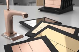 Alle Kunststoff- und Edelstahl-Betätigungsplatten von Tece können individuell in beliebigen Farben oder unterschiedlichen metallischen Oberflächen gewählt werden.<br />