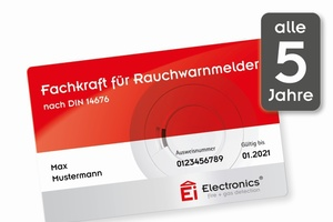"""Ei Electronics bietet für das zweite Halbjahr 2018 neue Schulungstermine zur TÜV-geprüften """"Fachkraft für Rauchwarnmelder nach DIN 14676"""" an.  Foto: Ei Electronics"""