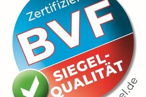 Das BVF-Siegel in neuem Lock: Es steht für eine hohe Qualität sowie Sicherheit der Systeme und Komponenten.    Bild: Bundesverband Flächenheizungen und Flächenkühlungen e. V., Dortmund