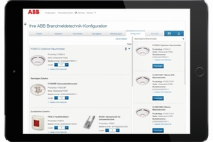 Der ABB-Brandmeldetechnik-Konfigurator lässt sich auf mobilen Endgeräten und auf Computern nutzen.