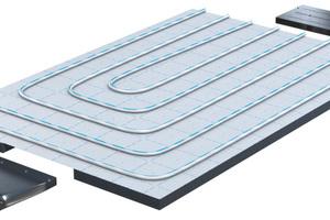 """Die Kombination von Flächentemperierung und Wohnraumlüftung gelingt bei """"Comfort Air"""" mit nur drei Komponenten.<br />"""