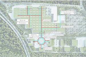 Die Wärme- und Kälteversorgung des Wilo-Campus 2020 ist eng vernetzt. Dabei nimmt ein Energiemanagement, das eng mit der Gebäudeleittechnik der unterschiedlichen Gebäude verzahnt ist, eine der Hauptaufgaben wahr.