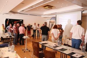 """Interaktiv ging es im Workshop mit Achim Klatt darum, sich mit dem Thema """"Mitarbeiter finden und binden"""" zu beschäftigen.<br />"""