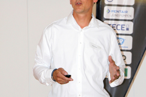 Marco Koch, Jung Pumpen, referierte über Kleinhebeanlagen.
