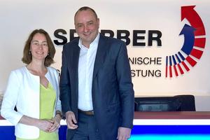 Die Trierer Bundestagsabgeordnete Dr. Katarina Barley und BTGA-Präsident Hermann Sperber<br />