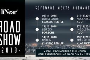 Die liNear-Roadshow zur Softwareversion 19 findet im November 2018 statt.