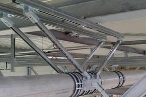 Mit den zu Schienensortiment gehörenden Verbindungselementen lassen sich auch komplexe Konstruktionen wie diese Festpunktbefestigung realisieren.