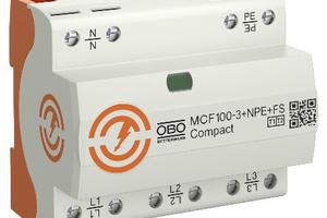"""Die VDE‐geprüfte Kombiableiter (T1+T2) """"MCF 75"""" und """"MCF 100"""" erfüllen die Anforderungen an den Überspannungsschutz und bieten dabei bis zu 25 % Platzersparnis.<br />"""