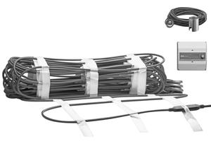 Die Rampenheizung besteht aus elektrischen Heizmatten, die hohen mechanischen Belastungen standhalten, einem Feuchte- und Temperaturfühler sowie dem Eismelder, der den optimalen Einschaltzeitpunkt ermittelt und die Freiflächenheizung zuverlässig steuert.
