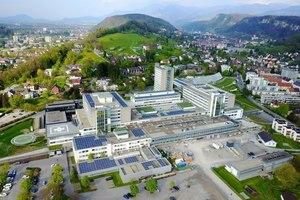 Das Landeskrankenhaus Feldkirch in Vorarlberg