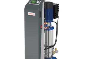 """Das Modell """"Vacumat Eco"""" mit drehzahlgesteuerter Pumpe und Sensoren zur Druck- und Temperaturmessung gewährleistet eine noch bessere Entgasungsleistung bei noch größeren Energieeinsparungen."""