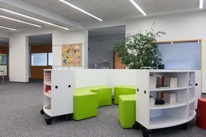 Große Räume für individuelle Unterrichtsformen und die Nachmittagsbetreuung werden von zwei Schullüftungsgeräten versorgt.