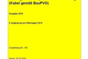 """""""Kabel gemäß Bauproduktenverordnung"""" ist die 2. Ergänzung zur AMEV-Empfehlung """"EltAnlagen 2015""""<br />"""