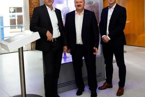 Verantwortliche bei Trox X-Fans in Bad Hersfeld (v.l.n.r.): Udo Jung, und die Doppelspitze Hartmut Brandau und Christian Söllner
