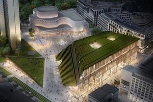 Caverion ist technischer Generalunternehmer für den KÖ-Bogen II in Düsseldorf.  Bild: Ingenhoven architects
