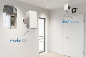 """Die Rohbau-Komponenten des wohnungszentralen """"freeAir""""-Lüftungssystems von bluMartin vereinfachen die Installation."""