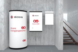 """Komponenten des Brennstoffzellen-Heizsystems """"Elcore 2400"""" (v.l.n.r.): Warmwasser- und Pufferspeicher, Brennstoffzelle und Gas-Brennwerttherme als Spitzenlast-Heizgerät."""