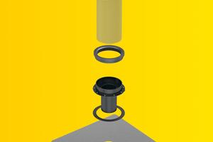 """Alle Bauteile des """"SitaFireguards"""",  hier z. B. für die Freispiegelentwässerung, kommen im Karton auf die Baustelle."""